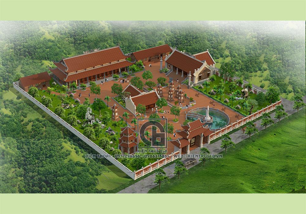 Thiết kế kiến trúc chùa Phúc Khánh