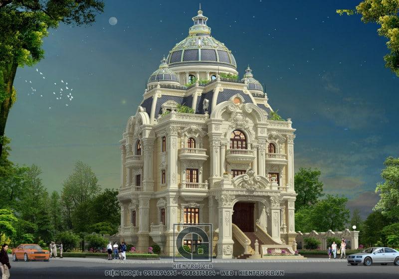 Thiết kế lâu đài cao cấp ông Thụy tọa lạc tại cố đô Ninh Bình
