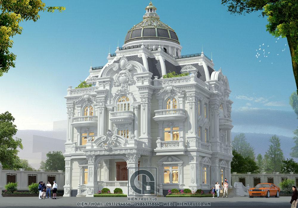 Thiết kế biệt thự tân cổ điển phố Nối- Hưng Yên ấn tượng nhất
