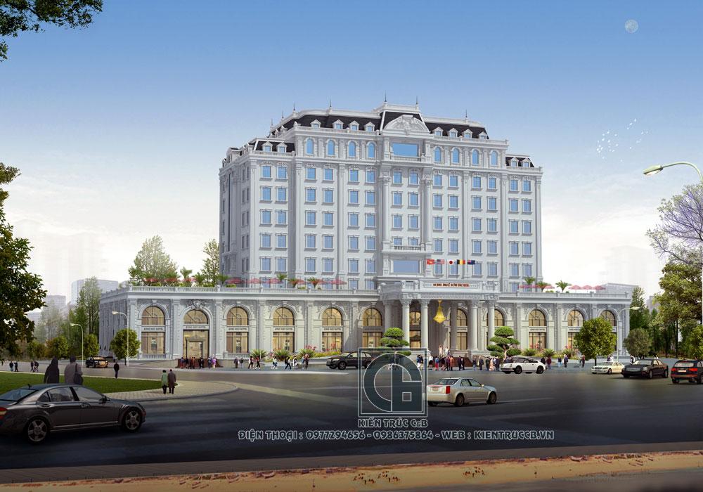 Ấn tượng mẫu thiết kế khách sạn đẹp phong cách tân cổ điển