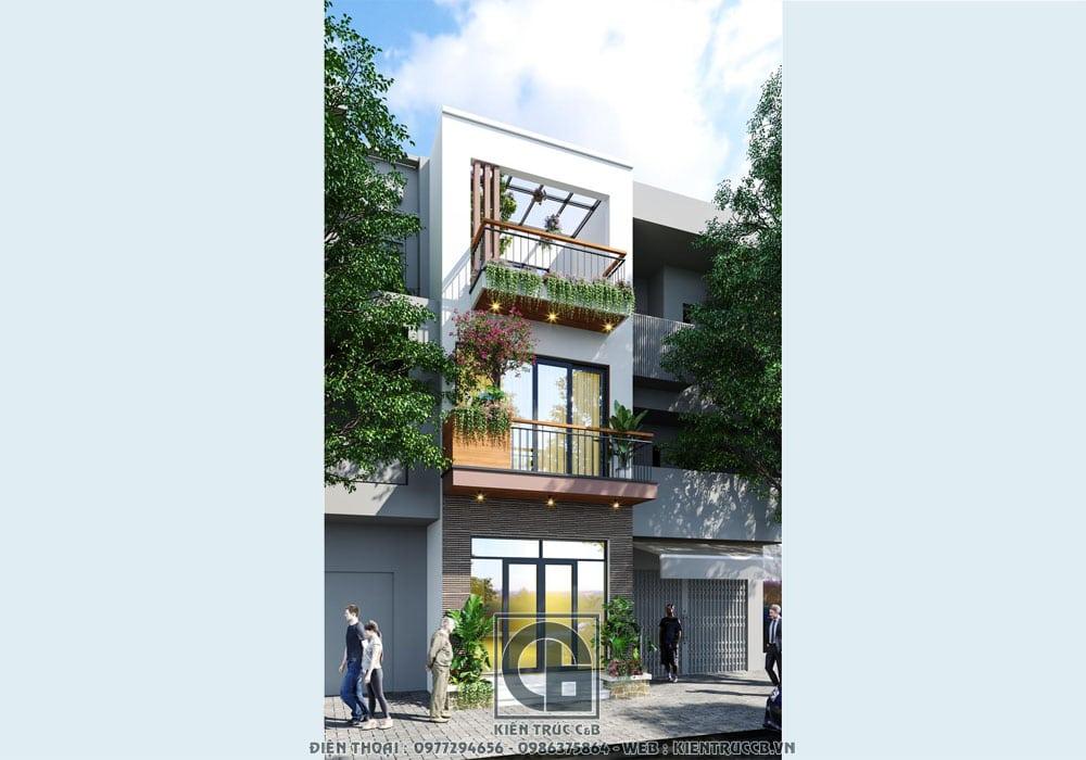 Thiết kế nhà phố 3 tầng hiện đại- Vẻ đẹp năng động của thời đại