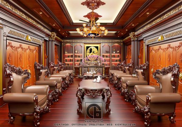 Mãn nhãn với mẫu thiết kế nội thất biệt thự cổ điển phong cách hoàng gia