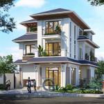 Kiến trúc biệt thự 3 tầng mái Thái- Nét đẹp dung hòa tinh tế