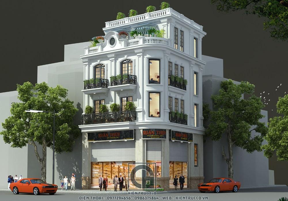 Thiết kế nhà phố Xuân Thủy 2 mặt tiền kết hợp cho thuê