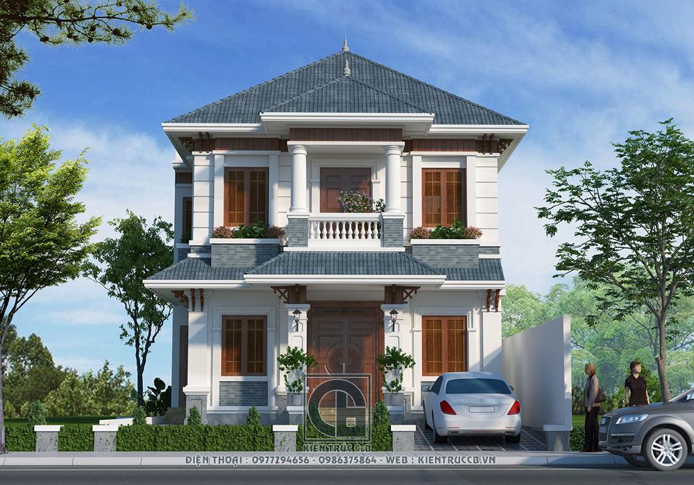 Biệt thự hiện đại 2 tầng mái Thái - Chương Mỹ, Hà Nội