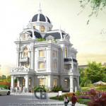 Biệt thự kiểu lâu đài phong cách tân cổ điển xa hoa và tráng lệ