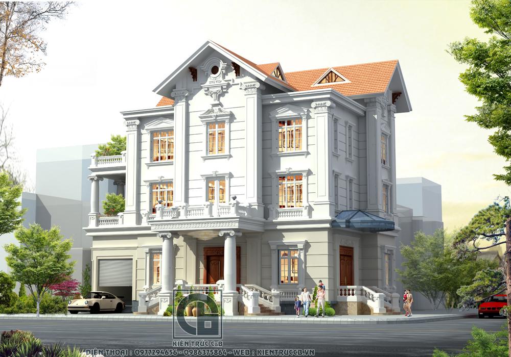 Biệt thự tân cổ 3 tầng mái Thái - Nét đẹp tinh tế và quý phái