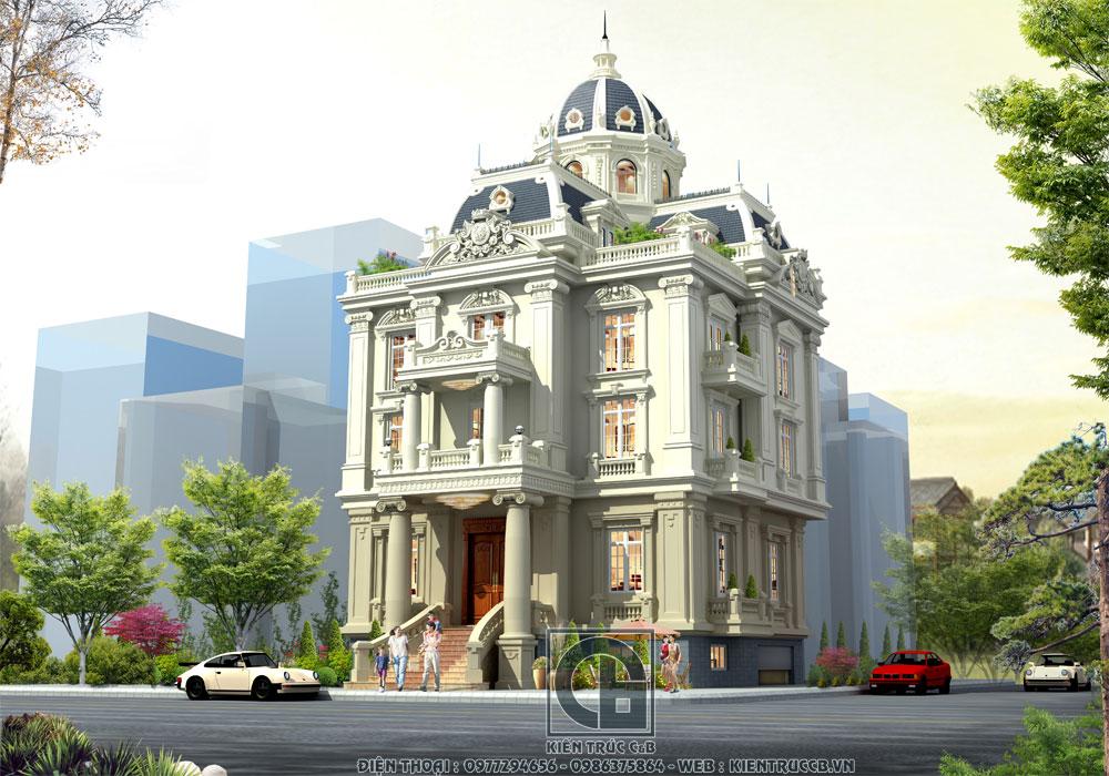 Nét đẹp tinh tế và đẳng cấp kiến trúc của mẫu biệt thự lâu đài tân cổ