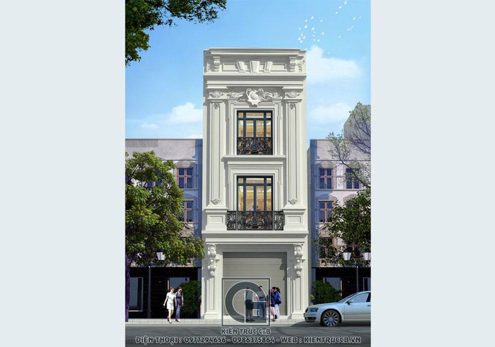 Thiết kế nhà phố 3 tầng phong cách tân cổ điển