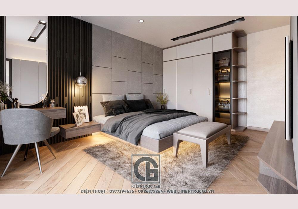 Ấn tượng với mẫu nội thất hiện đại cho phòng ngủ Master