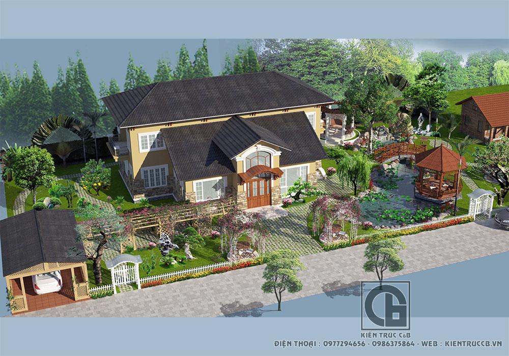 Mẫu thiết kế nhà vườn đẹp 2020