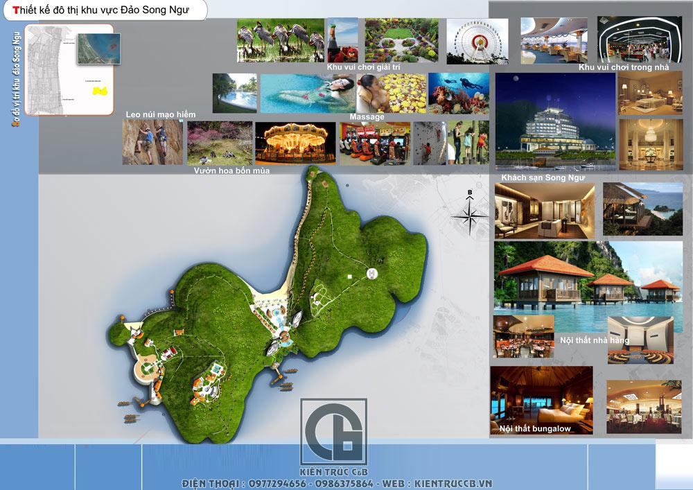 Phương án quy hoạch cảnh quan đảo Song Ngư