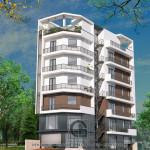 Thiết kế năng động và cuốn hút của mẫu nhà lô phố hiện đại 7 tầng
