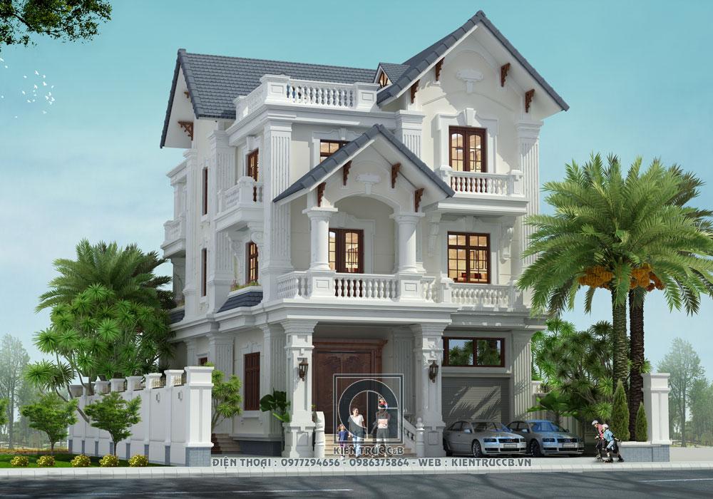 mẫu thiết kế biệt thự mái Thái đẹp
