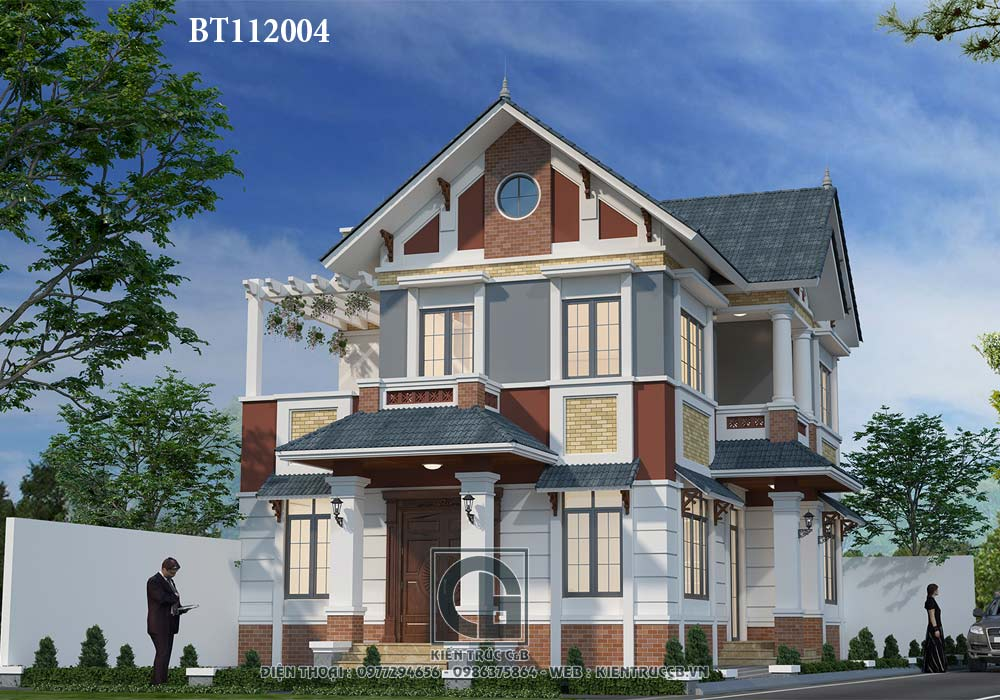 Mẫu thiết kế biệt thự mái Thái