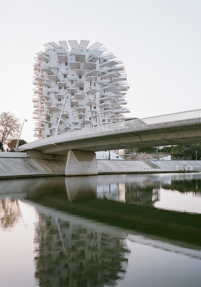Mẫu thiết kế kiến trúc chung cư giống quả cầu gai