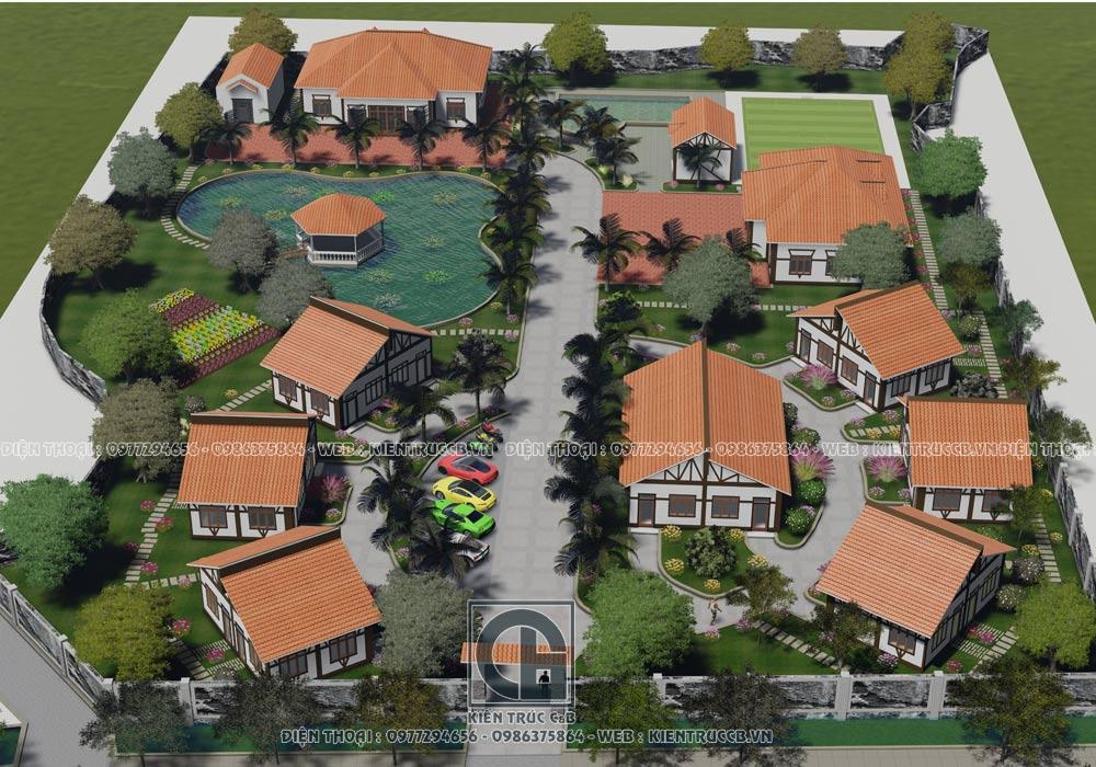 Thiết kế quy hoạch khu nghỉ dưỡng bungalow resort