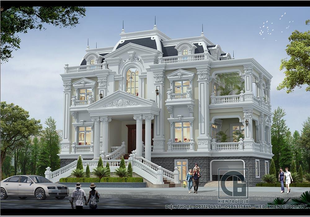 Mẫu thiết kế biệt thự 3 tầng đẹp nhất