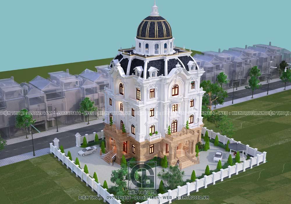mẫu thiết kế lâu đài tân cổ điển