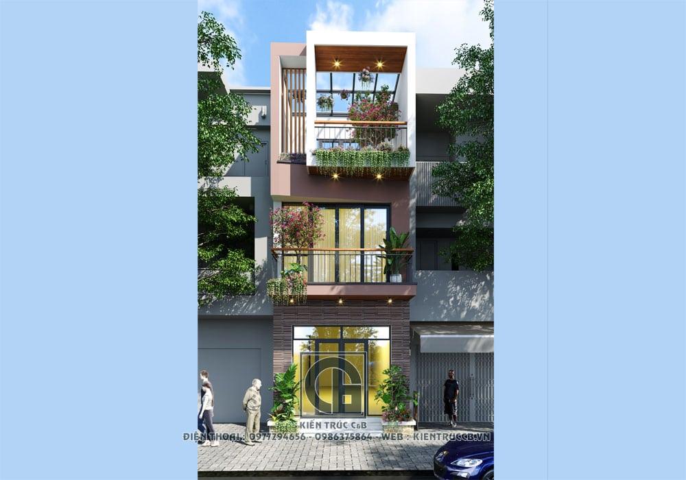 mẫu thiết kế nhà phố hiện đại đẹp hút hồn