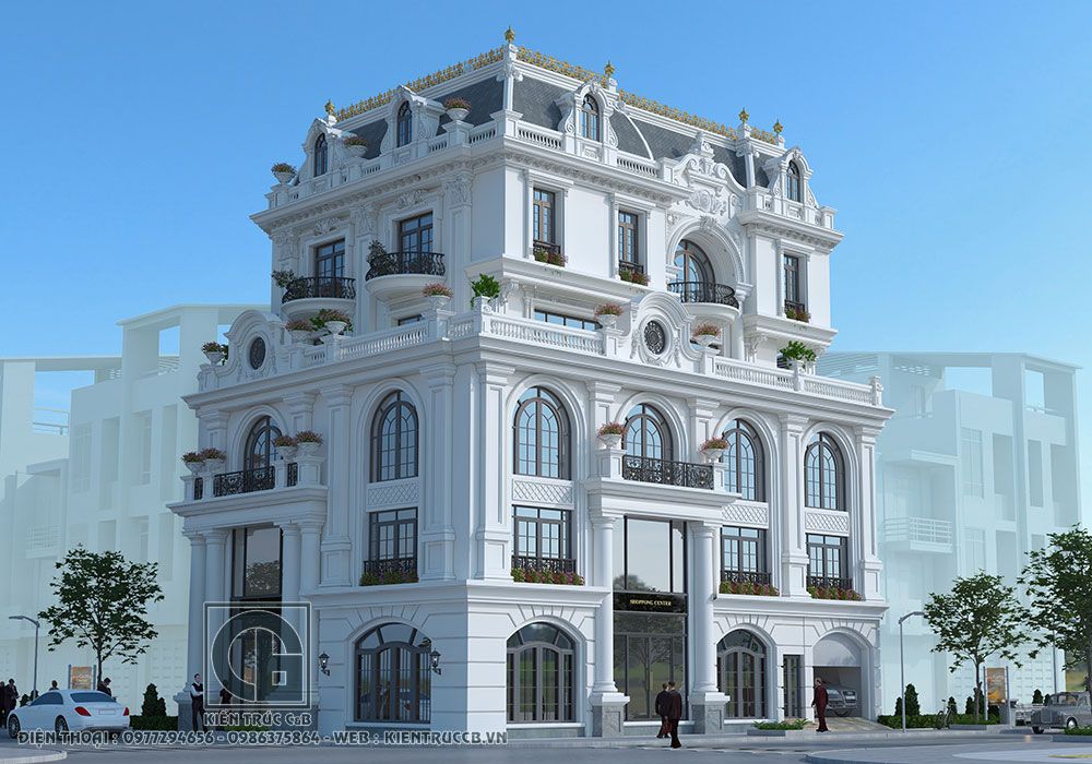 thiết kế biệt thự kiểu Pháp ấn tượng