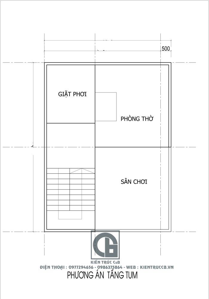 tư vấn thiết kế nhà ống 2 tầng 1 tum mặt ngõ