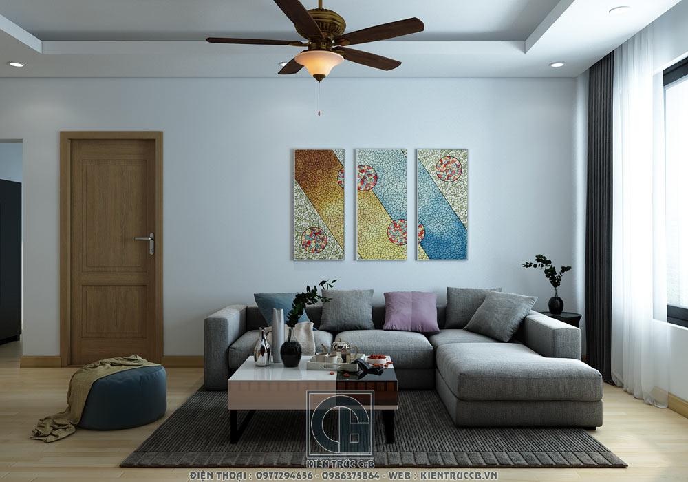 Mẫu nội thất chung cư đẹp phong cách hiện đại