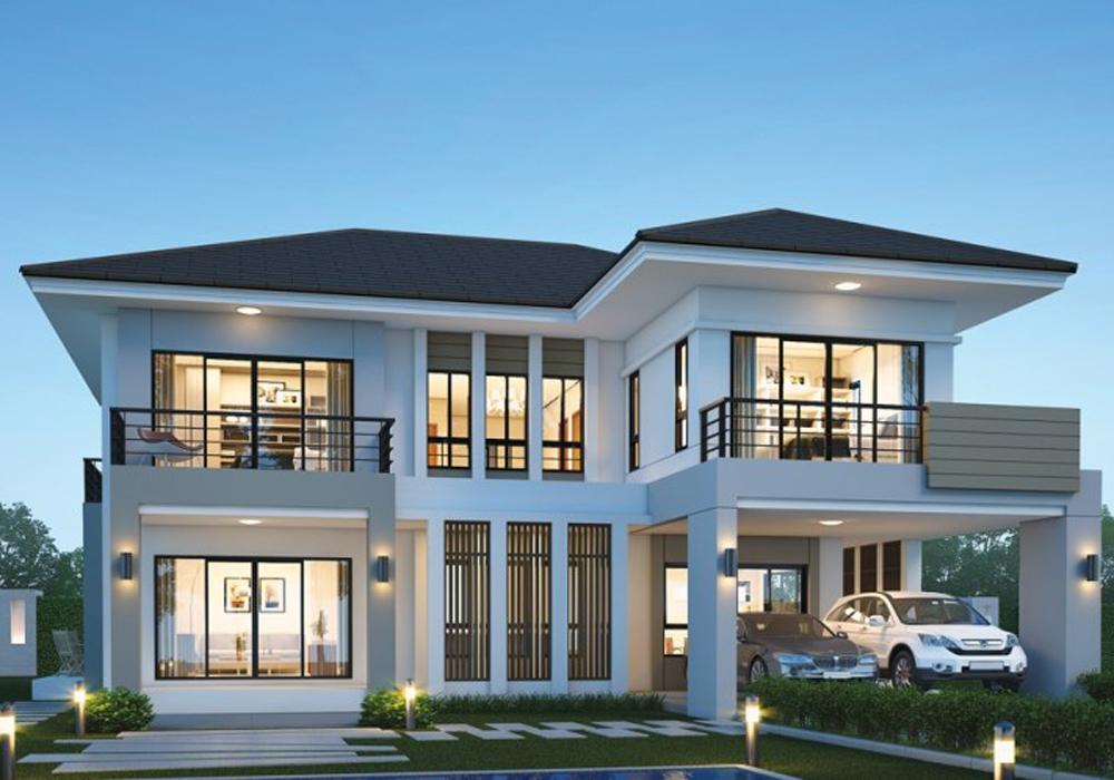 Mẫu thiết kế biệt thự 2 tầng phong cách hiện đại