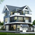 Mẫu thiết kế biệt thự 3 tầng phong cách hiện đại