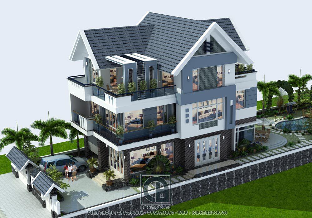 Tổng hợp các mẫu thiết kế biệt thự 3 tầng đẹp