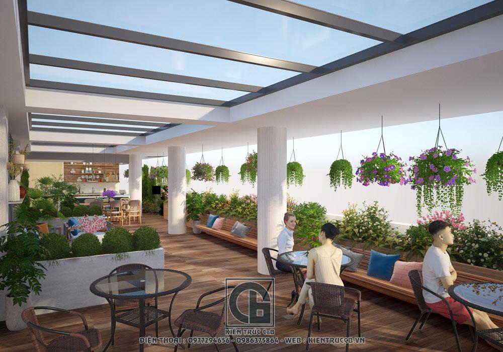 thiết kế nội thất quán cà phê hiện đại