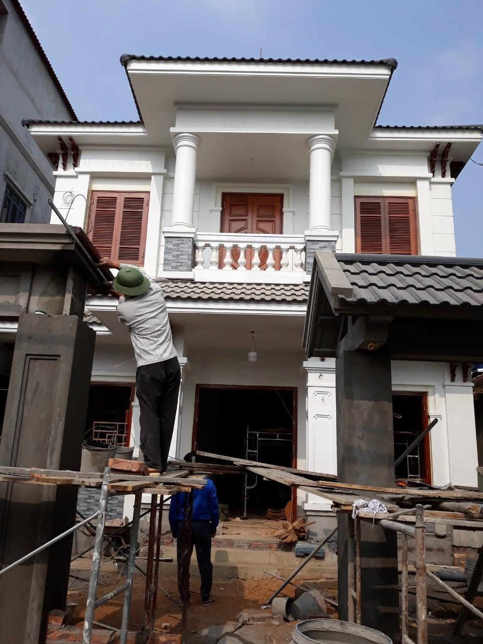 Thiết kế biệt thự hiện đại 2 tầng mái Thái