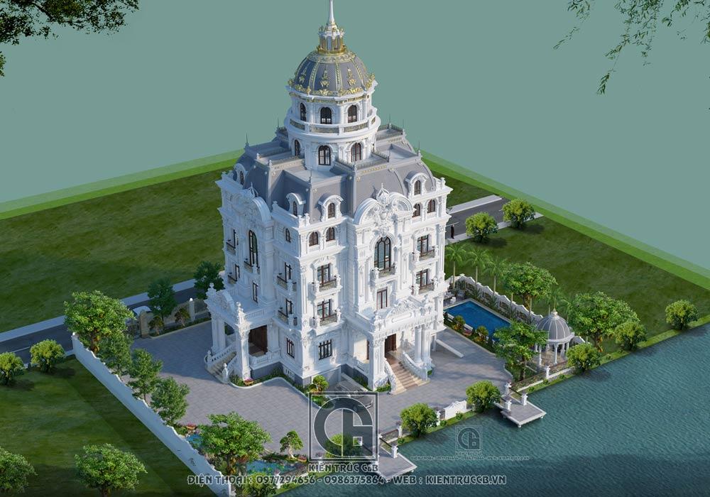 Thiết kế lâu đài kiểu Pháp siêu đẹp