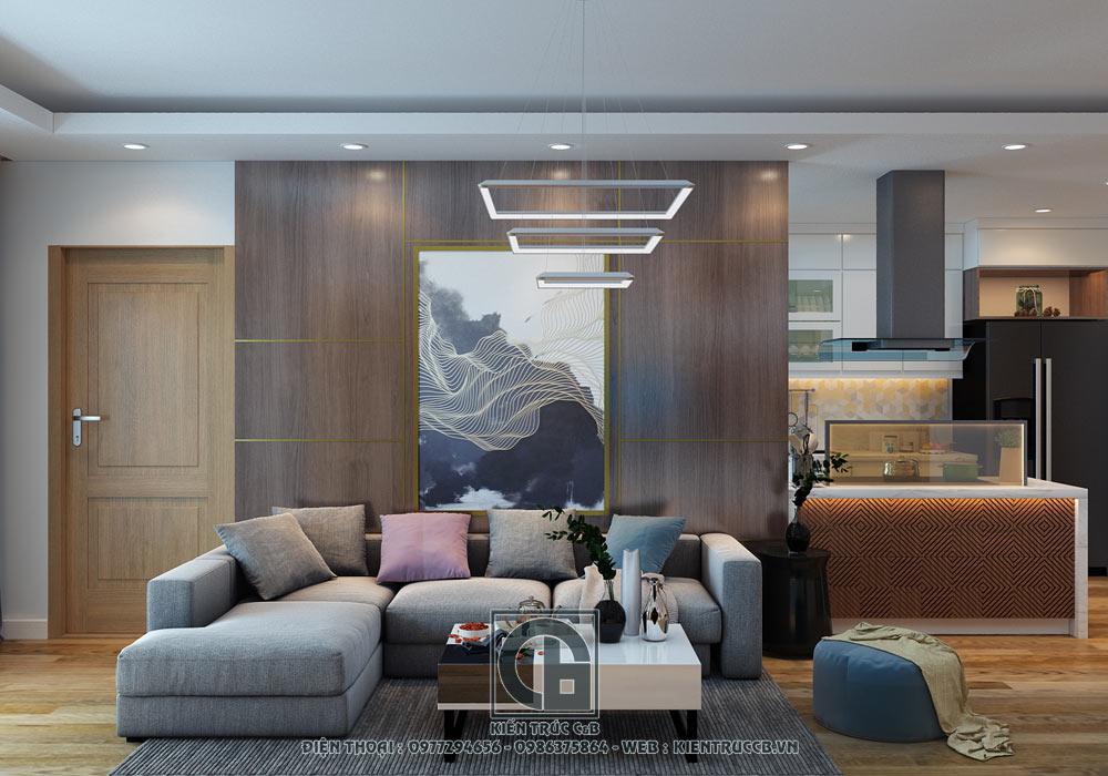 thiết kế nội thất chung cư 80m2 2 phòng ngủ