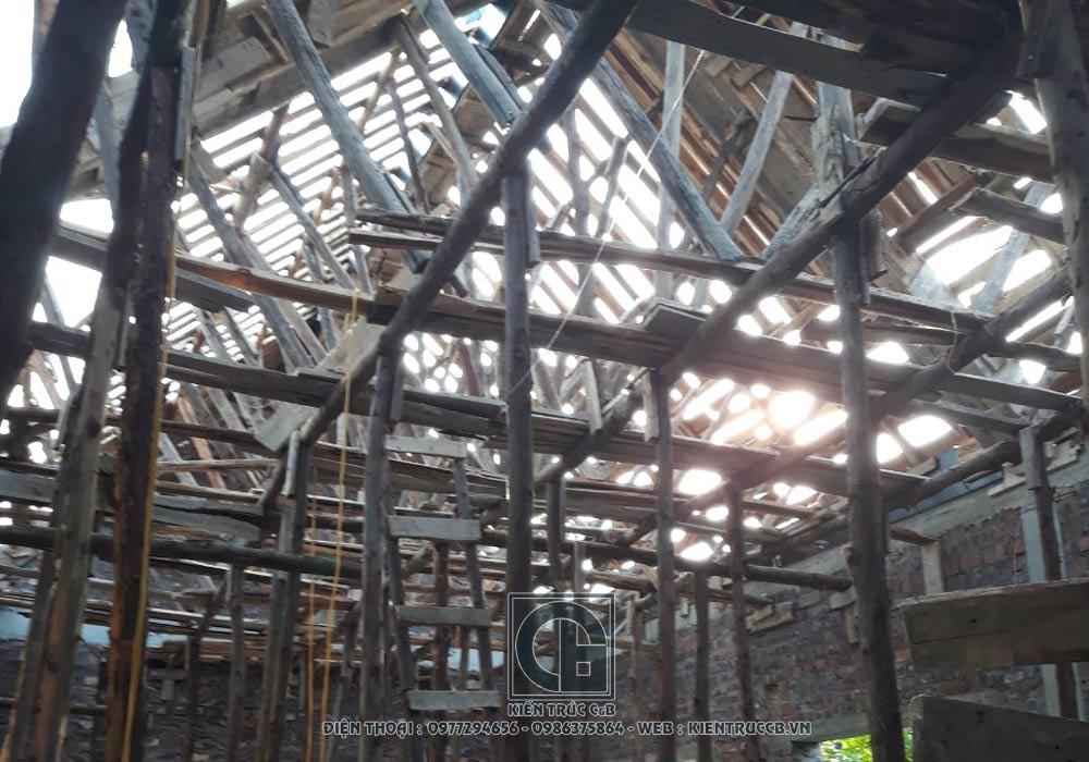 Tiến độ công trình biệt thự vườn 1 tầng hình chữ L - Chương Mỹ