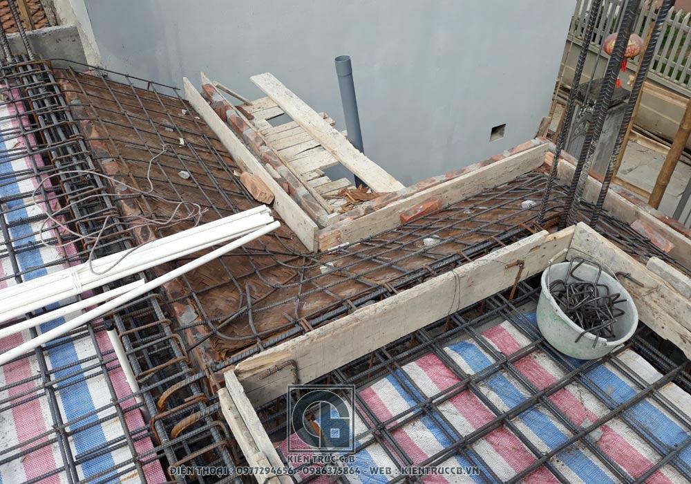 Tiến độ xây dựng biệt thự mái thái 2 tầng chương mỹ