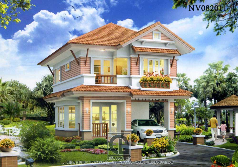 Thiết kế nhà vườn đẹp 2 tầng