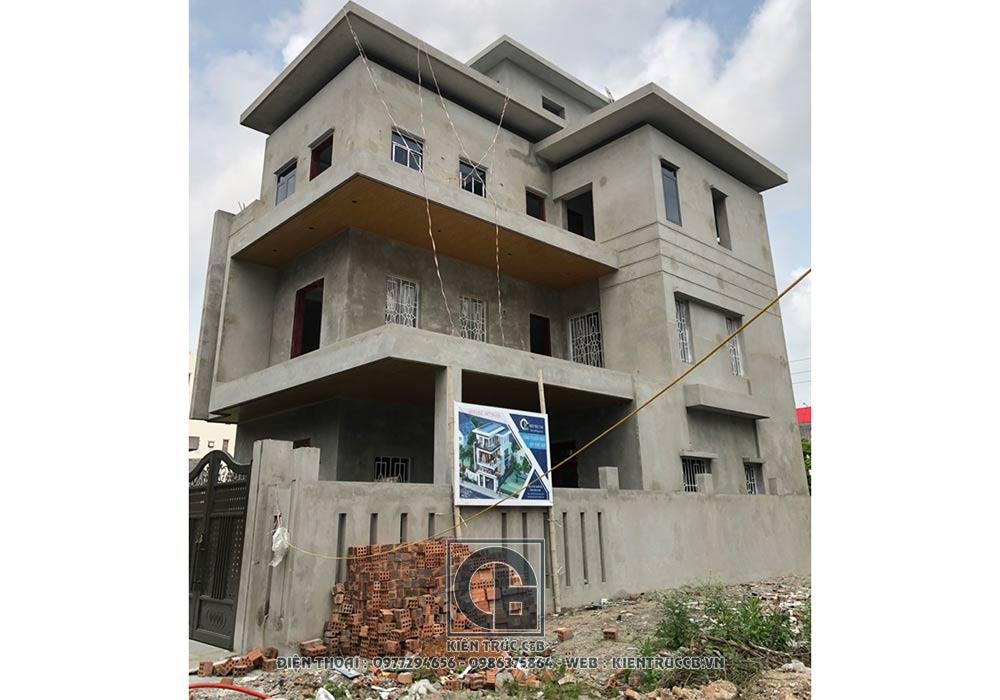 mẫu thiết kế biệt thự hiện đại 3 tầng