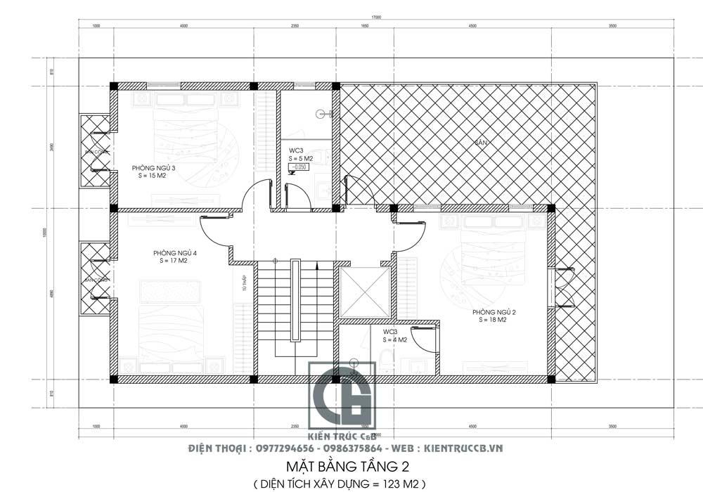 Thiết kế biệt thự hiện đại 3 tầng đẹp