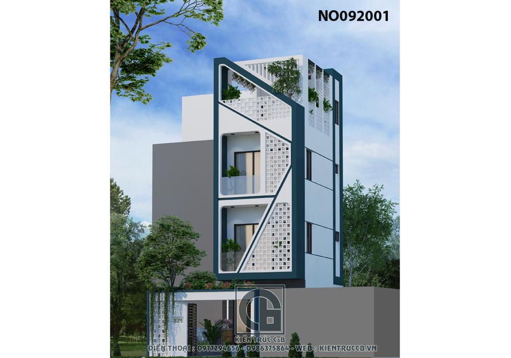 mẫu thiết kế nhà ống 3 tầng hiện đại
