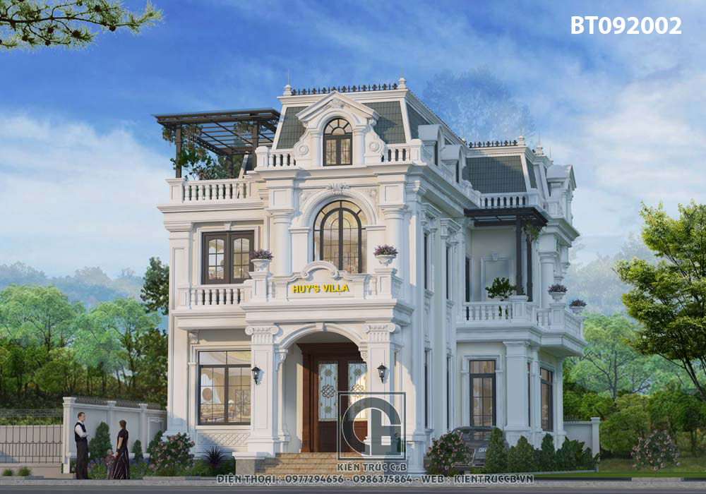 Thiết kế biệt thự tân cổ điển 3 tầng