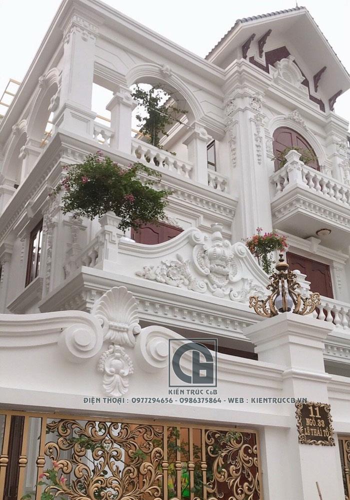 Mẫu biệt thự 3 tầng theo phong cách tân cổ điển