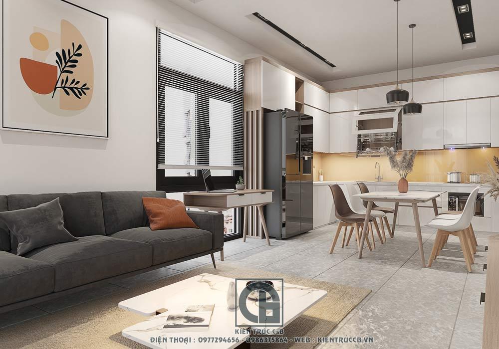 Thiết kế nội thất hiện đại cho nhà liền kề