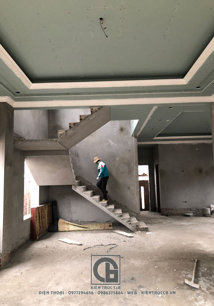 Tiến độ thi công mẫu Biệt Thự 3 tầng hiện đại