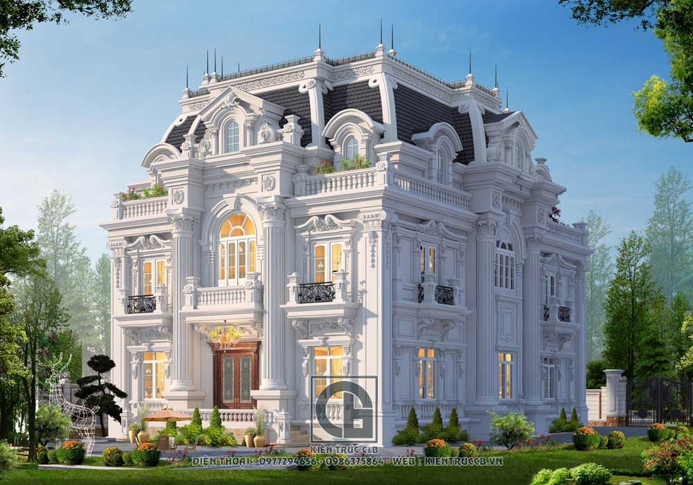 Tiến độ thiết kế biệt thự 3 tầng tân cổ điển