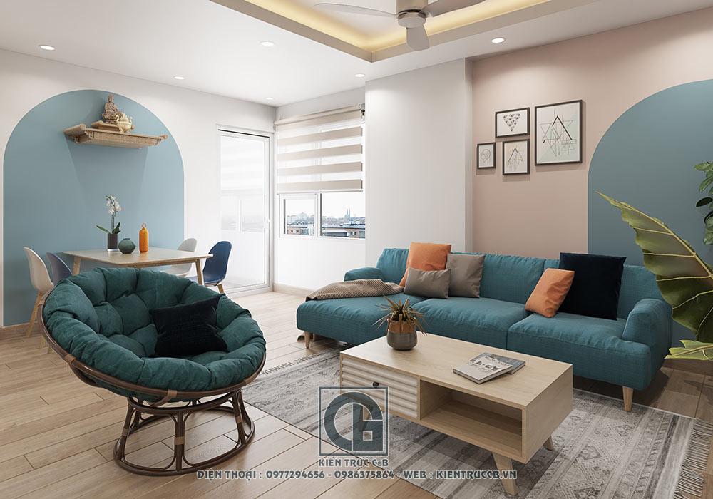 Mẫu thiết kế nội thất chung cư phong cách hiện đại