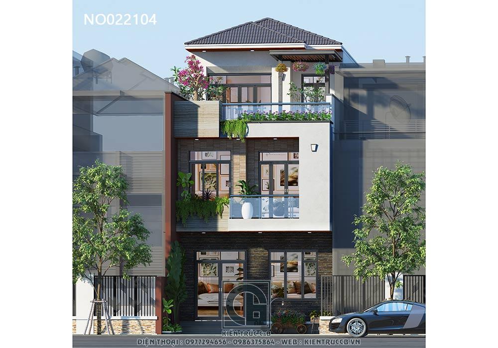 Nhà phố 3 tầng hiện đại