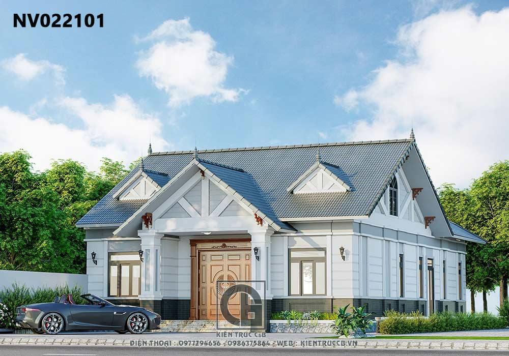 Mẫu thiết kế nhà vườn 1 tầng tân cổ điển