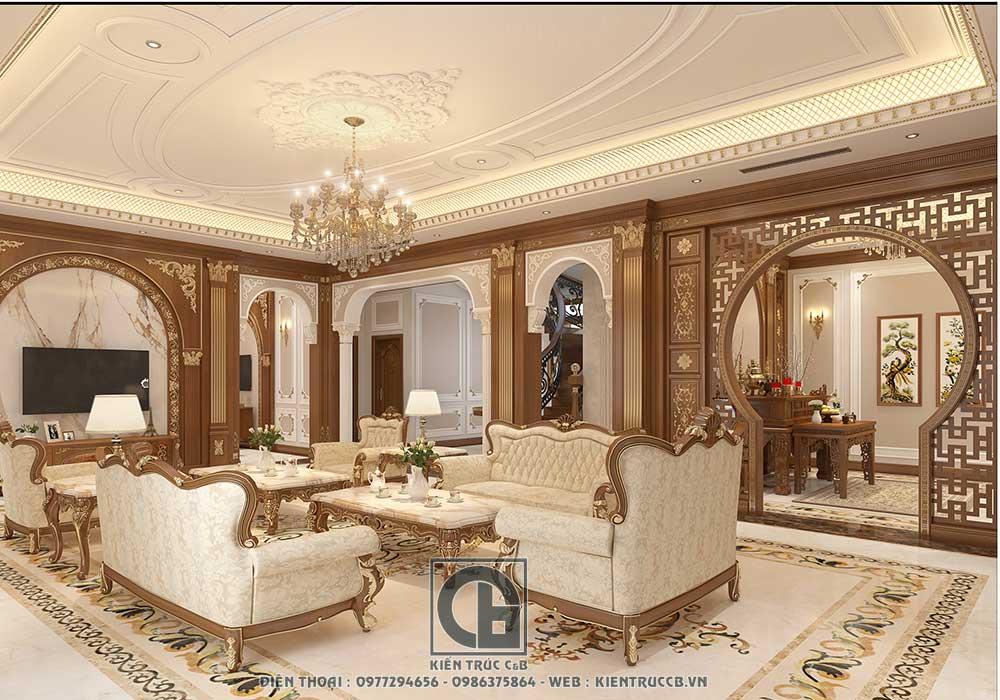 Tiêu chí khi thiết kế nội thất tân cổ điển cho biệt thự