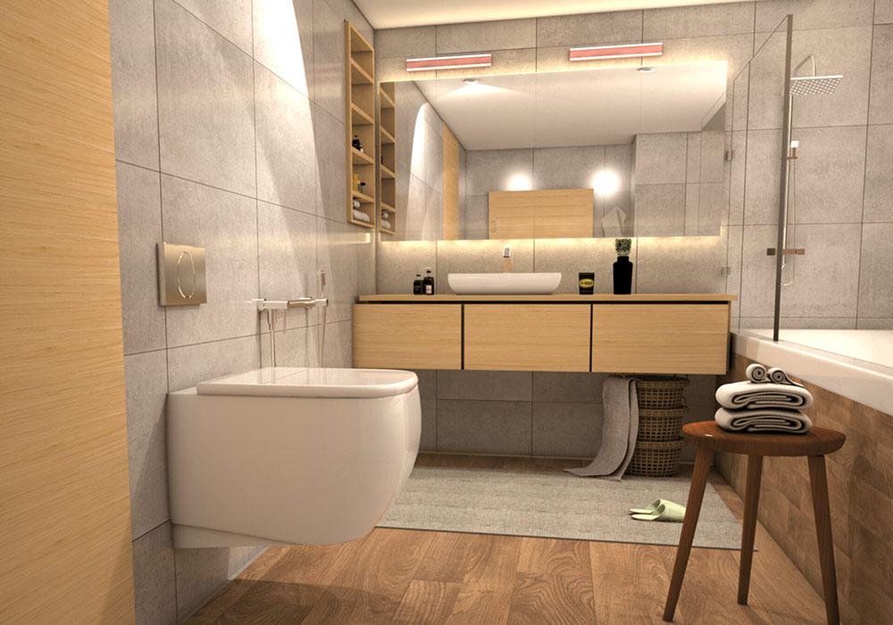 Thiết kế nội thất phòng tắm đảm bảo an toàn